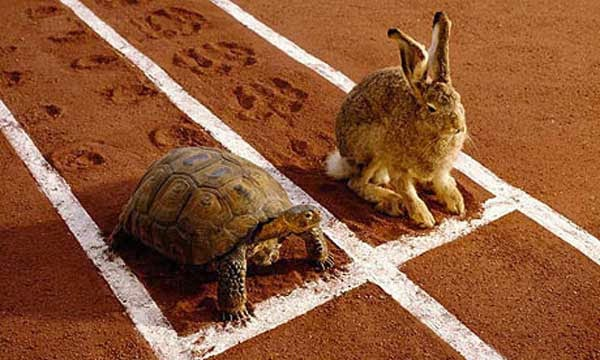 rapido significa lento pero sin pausa